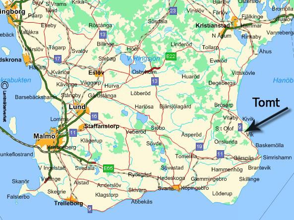 karta över österlen Lilla Vik   Österlen karta över österlen